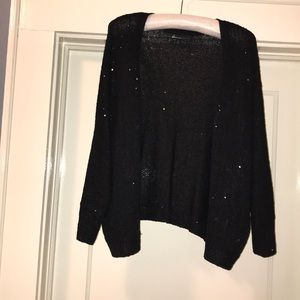 Black, sequined sweater